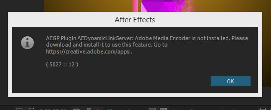 How To Fix AEGP Plugin Missing; Adobe Media Encoder Not Installed Error?